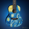Luna Guitars Introduces the Art Inspired Starry Night Concert Ukulele